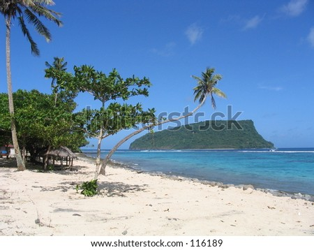 Island and Beach, Samoa