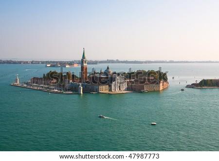 Island and church of San Giorgio Maggiore, in Venice, Italy