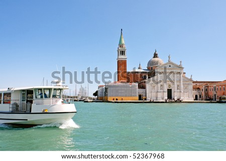 Island and church of San Giorgio Maggiore, Venice, Italy - stock photo