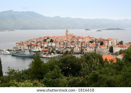 Island and city Korcula,Croatia