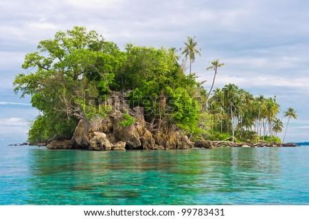 Island Coastline after Tsunami, Banyak Archipelago, Aceh, Indonesia, Southeast Asia