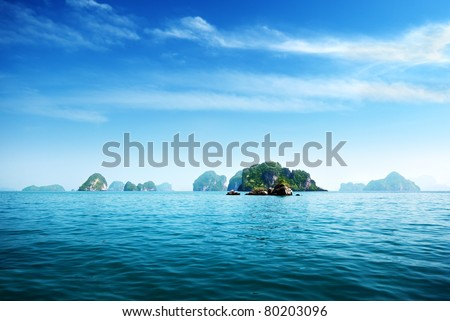 island in Andaman sea Thailand