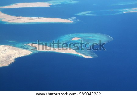 island reef in the Red sea #585045262