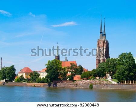 island Tumski, Wroclaw, Poland - stock photo