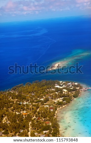 Islands at the ocean. Aerial view.