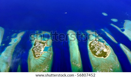 islands of maldives , aerial view