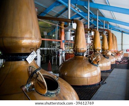 Islay whisky distillery stills