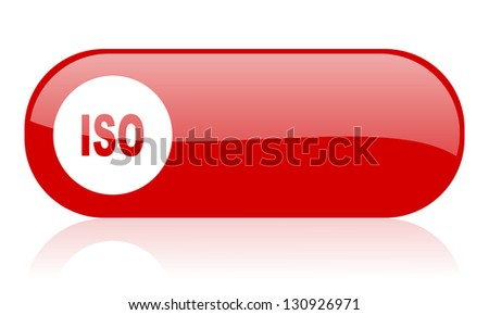 iso red web glossy icon