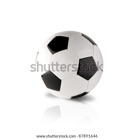 Isoated football ball on white background