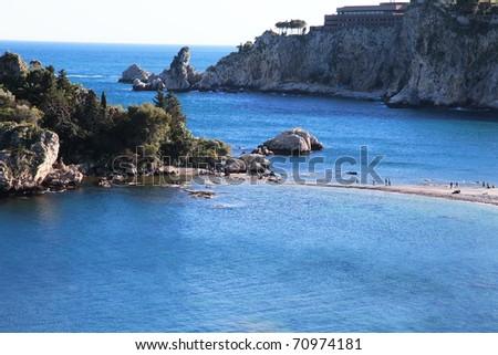 Isola Bella, beautiful island and landmark of Sicily