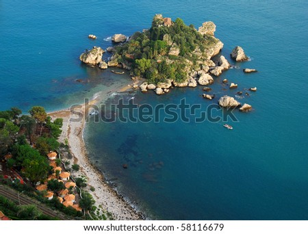 Isola Bella is a small island near Taormina, Sicily, southern Italy.