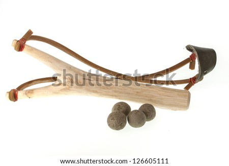 Isolate of the slingshot against white background
