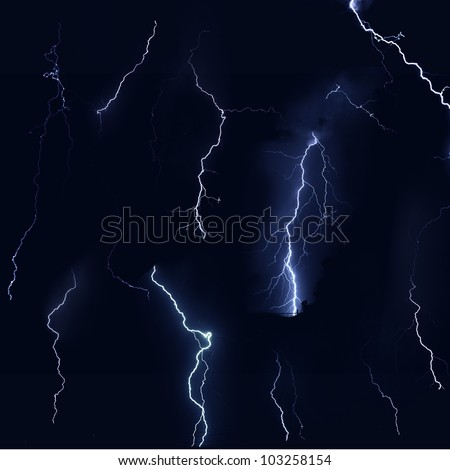 Isolate of thunder bolt on black background