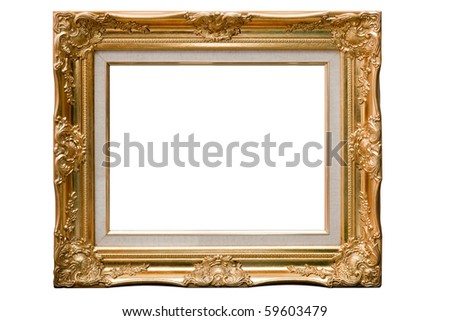 Isolate Wooden frame