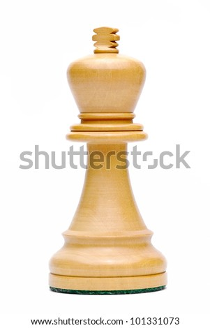 Isolate Wooden King Chess