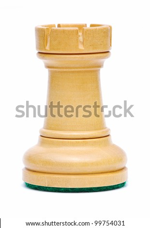 Isolate Wooden Rook Chess