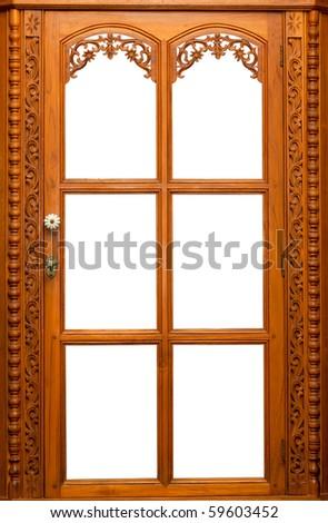 Isolate Wooden window