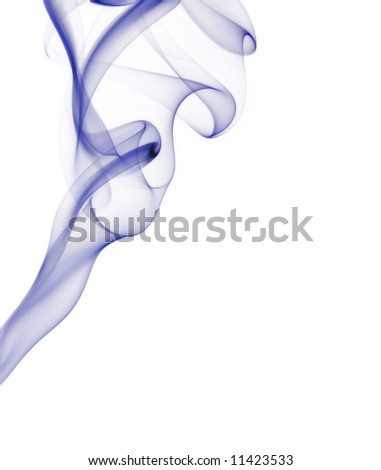 Isolated abstract smoke