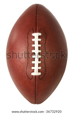 isolated american football over white with clipping path - stock photo