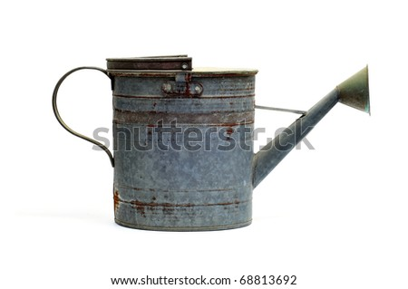 isolated antique sprinkler on a white background