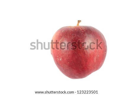 Isolated apple with white background