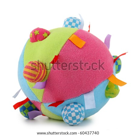 isolated baby's soft ball
