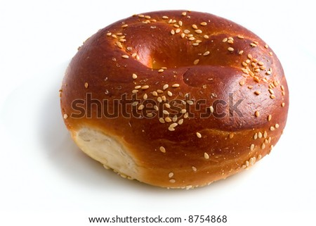 isolated bagel