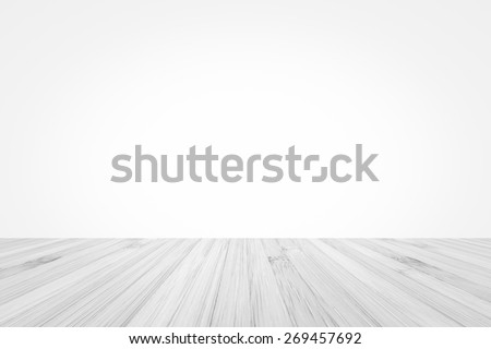 Isolated bamboo wood floor  in grey texture on white wall background