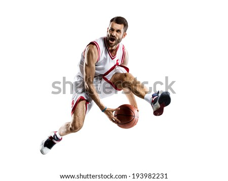 isolated Basketball player in action