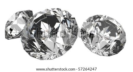 isolated beautiful diamonds (big collection) #57264247