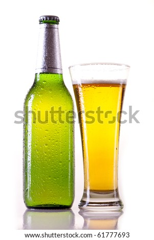Isolated beer on white background