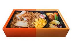 Isolated Bento Japanese Meal