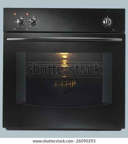 Isolated Black Built-in Oven 1