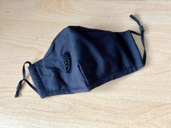 Isolated Black Fabric Face Mask