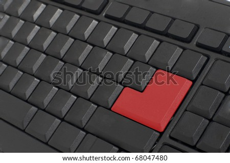 isolated black keyboard on a white background