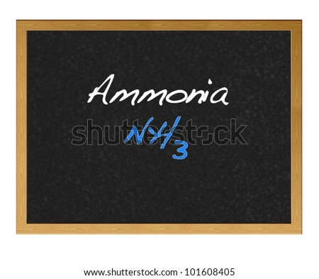 Isolated blackboard with Ammonia.