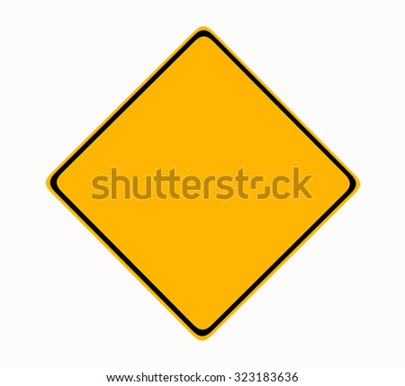 Isolated Blank Yellow Sign - Empty Yellow Symbol isolated on white background #323183636