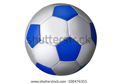 isolated blue checked football