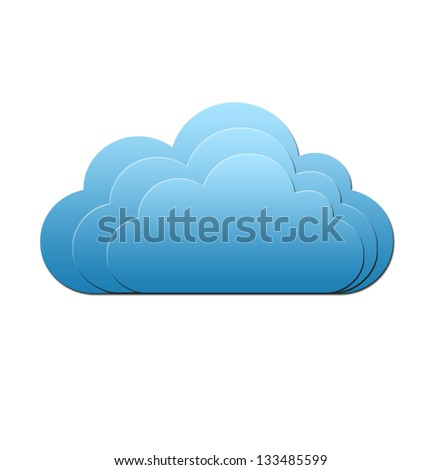 Isolated blue cloud