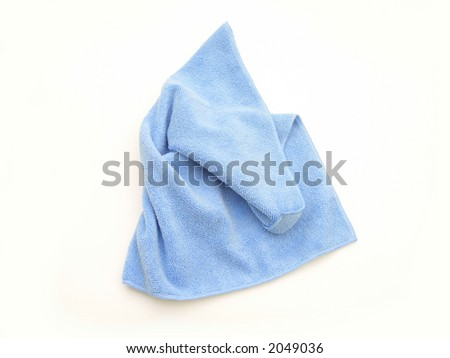 Isolated blue LCD cleaning cloth
