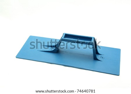 isolated blue plastic construction lute