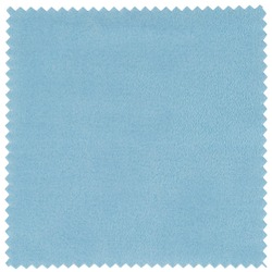 Isolated Blue Square Cloth with Jagged Edges for Glass or Screen Cleaning on White Background