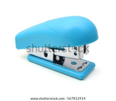 Isolated Blue Stapler on white background