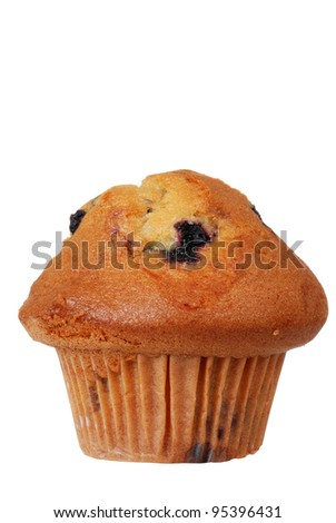 Isolated blueberry muffin