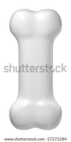 Isolated bone on a white background. Image include CLIPPING PATH for remove background