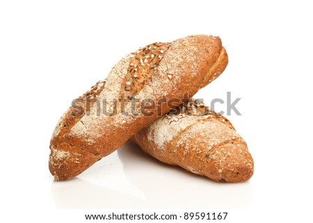 Isolated breads