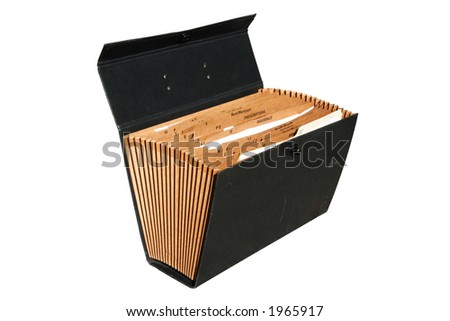 isolated brown paper organizing case