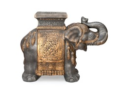 isolated Buddhist Statuette of elephant