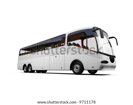isolated bus on white background