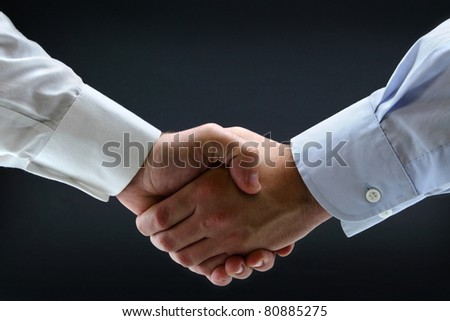 Isolated business handshake